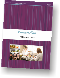 Mercure Sheffield Kenwood Hall Hotel & Spa Afternoon Tea Menu