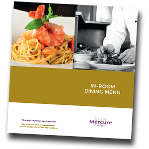 Mercure Sheffield Kenwood Hall & Spa Room Service Menu