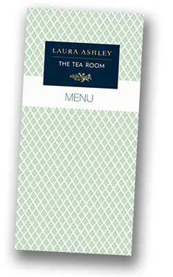 Laura Ashley Tea Room at Kenwood Hall Hotel & Spa Sheffield Menu