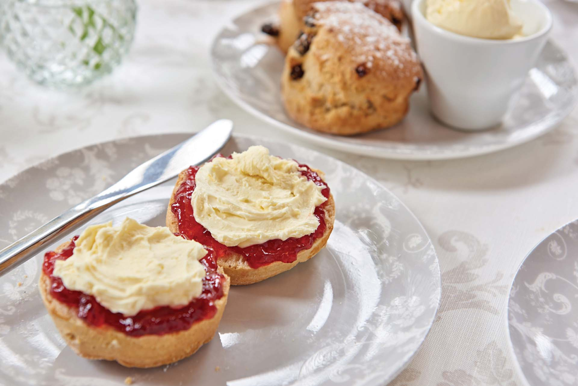 Laura Ashley Tea Room at Kenwood Hall Hotel & Spa Sheffield scones