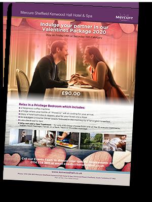 Kenwood Hall Hotel Valentines 2020