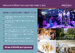 Charity Dinner package from Mercure SHeffield Kenwood Hall Hotel & Spa