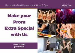 Prom package from Mercure SHeffield Kenwood Hall Hotel & Spa