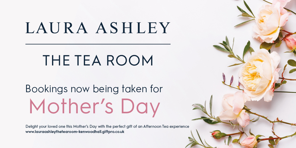 Kenwood Hall Mother's Day Afternoon Tea in Laura Ashley The Tea Room